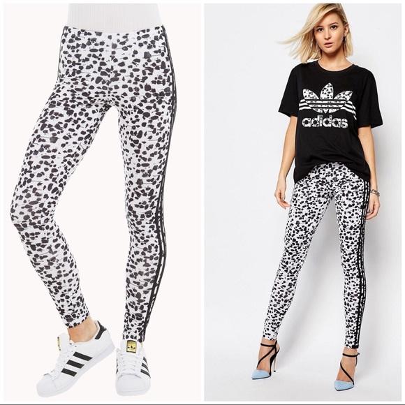 744f80ab39f9 adidas Pants | Ink Spot Animal Print Leggings Small | Poshmark